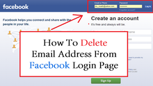 How to Delete an Email Address from the Facebook Login Page