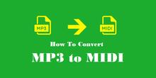Convert MP3 to MIDI